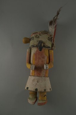 Hopi Pueblo. <em>Kachina Doll (Maalo)</em>, late 19th century. Wood, pigment, feathers, string, 4 5/16 x 3 9/16 x 9in. (11 x 9 x 22.8cm). Brooklyn Museum, Museum Expedition 1904, Museum Collection Fund, 04.297.5583. Creative Commons-BY (Photo: Brooklyn Museum, CUR.04.297.5583_front.jpg)