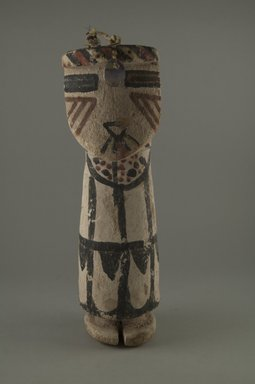 Hopi Pueblo. <em>Kachina Doll (Shalako Nalena Mana)</em>, late 19th century. Wood, pigment, horsehair, shell, string, 9 13/16 in. (25 cm). Brooklyn Museum, Museum Expedition 1904, Museum Collection Fund, 04.297.5585. Creative Commons-BY (Photo: Brooklyn Museum, CUR.04.297.5585_front.jpg)