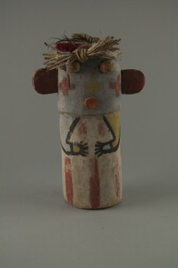 Hopi Pueblo. <em>Kachina Doll</em>, late 19th century. Wood, pigment, yarn, plant fiber, 4 x 2 11/16 x 5 13/16in. (10.2 x 6.9 x 14.8cm). Brooklyn Museum, Museum Expedition 1904, Museum Collection Fund, 04.297.5593. Creative Commons-BY (Photo: Brooklyn Museum, CUR.04.297.5593_front.jpg)