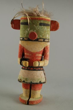 Hopi Pueblo. <em>Kachina Doll</em>, late 19th century. Feathers, wood, pigment, 4 11/16 x 3 9/16 x 8 11/16in. (11.9 x 9 x 22cm). Brooklyn Museum, Museum Expedition 1904, Museum Collection Fund, 04.297.5598. Creative Commons-BY (Photo: Brooklyn Museum, CUR.04.297.5598_front.jpg)