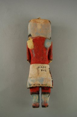 Hopi Pueblo. <em>Kachina Doll (Pawik)</em>, late 19th century. Wood, pigment, string, 2 5/16 x 1 15/16 x 8 1/8in. (5.8 x 5 x 20.6cm). Brooklyn Museum, Museum Expedition 1904, Museum Collection Fund, 04.297.5606. Creative Commons-BY (Photo: Brooklyn Museum, CUR.04.297.5606_back.jpg)