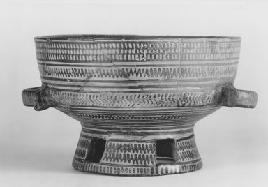 Greek. <em>Bowl on High Foot</em>, 8th century B.C.E. Clay, slip, 4 3/16 x Diam. of mouth 6 11/16 in. (10.7 x 17 cm). Brooklyn Museum, 05.2. Creative Commons-BY (Photo: Brooklyn Museum, CUR.05.2_NegA_print_bw.jpg)