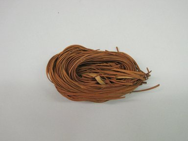 Hupa. <em>Dyed Basket Material</em>. fern stem, alder bark dye, 2 3/4 × 1 15/16 × 4 1/2 in. (7 × 5 × 11.4 cm). Brooklyn Museum, Museum Expedition 1905, Museum Collection Fund, 05.588.7459. Creative Commons-BY (Photo: Brooklyn Museum, CUR.05.588.7459.jpg)