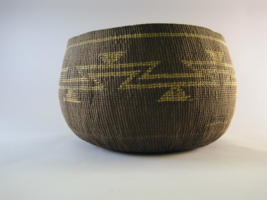 Hupa. <em>Boiling Basket</em>. Fiber, 7 1/8 × 12 1/2 × 12 in. (18.1 × 31.8 × 30.5 cm). Brooklyn Museum, Museum Expedition 1905, Museum Collection Fund, 05.588.7469. Creative Commons-BY (Photo: Brooklyn Museum, CUR.05.588.7469.jpg)