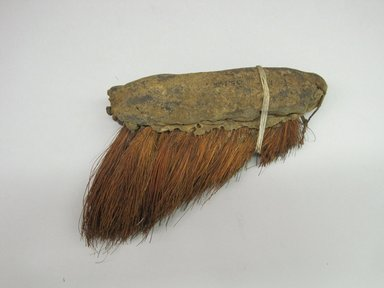 Hupa. <em>Meal Brush</em>. Fiber, hide, pine needles?, 1 15/16 × 1/2 × 7 3/4 in. (4.9 × 1.3 × 19.7 cm). Brooklyn Museum, Museum Expedition 1905, Museum Collection Fund, 05.588.7477. Creative Commons-BY (Photo: Brooklyn Museum, CUR.05.588.7477.jpg)