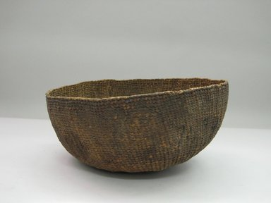 Hupa. <em>Acorn Soup Basket</em>. Fiber, 5 3/4 × 11 × 11 1/2 in. (14.6 × 27.9 × 29.2 cm). Brooklyn Museum, Museum Expedition 1905, Museum Collection Fund, 05.588.7494. Creative Commons-BY (Photo: Brooklyn Museum, CUR.05.588.7494.jpg)