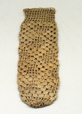 Hupa. <em>Crocheted Bag</em>. Cotton, 8 1/4 × 2 9/16 in. (21 × 6.5 cm). Brooklyn Museum, Museum Expedition 1905, Museum Collection Fund, 05.588.7496.1. Creative Commons-BY (Photo: Brooklyn Museum, CUR.05.588.7496.jpg)