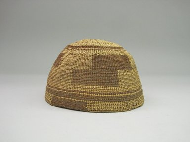 Yurok. <em>Twined Basket Hat</em>, late 19th century. Conifer root, bear grass, 3 15/16 × 6 3/4 × 6 3/4 in. (10 × 17.2 × 17.2 cm). Brooklyn Museum, Museum Expedition 1905, Museum Collection Fund, 05.588.7515. Creative Commons-BY (Photo: Brooklyn Museum, CUR.05.588.7515.jpg)