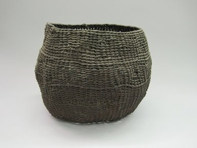 Yurok. <em>Storage Basket</em>. Fiber, 8 3/4 × 11 3/4 × 11 5/8 in. (22.2 × 29.8 × 29.5 cm). Brooklyn Museum, Museum Expedition 1905, Museum Collection Fund, 05.588.7555. Creative Commons-BY (Photo: Brooklyn Museum, CUR.05.588.7555.jpg)