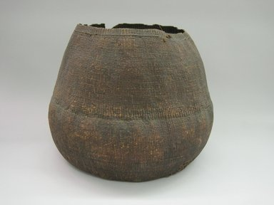 Yurok. <em>Storage Basket</em>. Root, hide, 14 × 18 × 17 3/4 in. (35.6 × 45.7 × 45.1 cm). Brooklyn Museum, Museum Expedition 1905, Museum Collection Fund, 05.588.7556. Creative Commons-BY (Photo: Brooklyn Museum, CUR.05.588.7556.jpg)