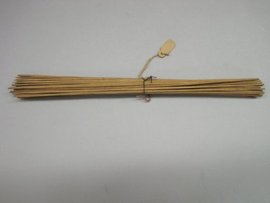Yurok. <em>Stick Game</em>. Hazel, Tied Together: 7/8 × 9 15/16 in. (2.2 × 25.2 cm). Brooklyn Museum, Museum Expedition 1905, Museum Collection Fund, 05.588.7616. Creative Commons-BY (Photo: Brooklyn Museum, CUR.05.588.7616.jpg)