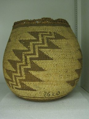 Yurok. <em>Storage Basket</em>. Hazel, 11 13/16 × 8 1/4 × 8 1/4 in. (30 × 21 × 21 cm). Brooklyn Museum, Museum Expedition 1905, Museum Collection Fund, 05.588.7620. Creative Commons-BY (Photo: Brooklyn Museum, CUR.05.588.7620_view1.jpg)
