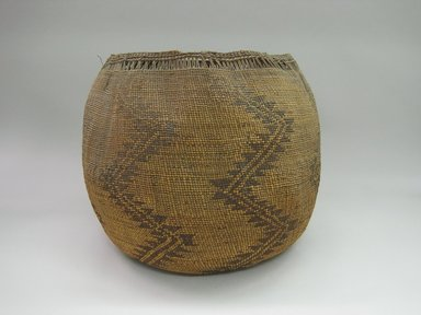 Yurok. <em>Storage Basket</em>. Hazel fibers, 14 3/4 × 17 × 16 1/2 in. (37.5 × 43.2 × 41.9 cm). Brooklyn Museum, Museum Expedition 1905, Museum Collection Fund, 05.588.7625. Creative Commons-BY (Photo: Brooklyn Museum, CUR.05.588.7625.jpg)