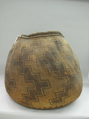 Yurok. <em>Large Storage Basket, with Cover</em>. Fiber, Basket: 27 1/8 × 31 1/2 × 29 3/4 in. (68.9 × 80 × 75.6 cm). Brooklyn Museum, Museum Expedition 1905, Museum Collection Fund, 05.588.7632a-b. Creative Commons-BY (Photo: Brooklyn Museum, CUR.05.588.7632a-b.jpg)
