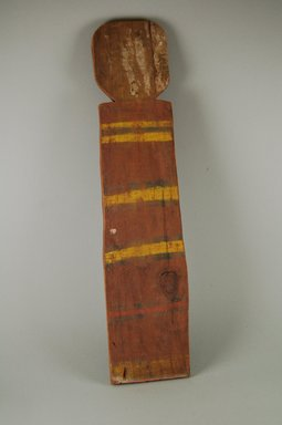 Pueblo, Keres. <em>Koshare Puyatyme Image</em>. Wood, pigment, 19 1/4 x 4 1/2 in.  (48.9 x 11.4 cm). Brooklyn Museum, Museum Expedition 1905, Museum Collection Fund, 05.588.7645. Creative Commons-BY (Photo: Brooklyn Museum, CUR.05.588.7645_front.jpg)