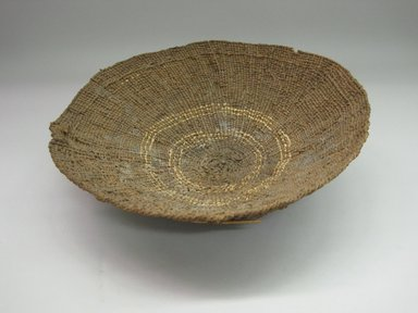 Hupa. <em>Meal Sifter</em>. Fiber, 4 1/4 × 13 7/8 × 14 1/16 in. (10.8 × 35.2 × 35.7 cm). Brooklyn Museum, By exchange, 05.589.7757. Creative Commons-BY (Photo: Brooklyn Museum, CUR.05.589.7757.jpg)