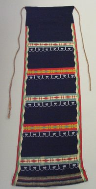 Possibly Chippewa (Anishinaabe). <em>Dark Blue Legging</em>. Wool, silk, cotton, beads, 41 5/16 x 12 5/8 in.  (105.0 x 32.0 cm). Brooklyn Museum, Brooklyn Museum Collection, 05.66. Creative Commons-BY (Photo: Brooklyn Museum, CUR.05.66.jpg)