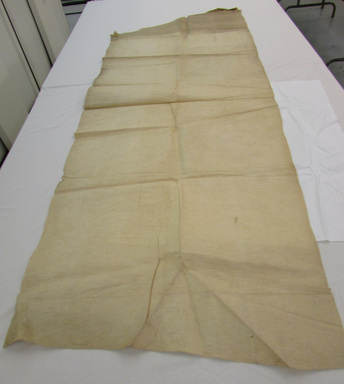 Maohi (Tahitian). <em>Plain Tapa with Parallel Beater Marks</em>, late 19th-early 20th century. Barkcloth, 28 3/4 × 78 9/16 in. (73 × 199.5 cm). Brooklyn Museum, Gift of Mrs. Stuart Close, 05.96. Creative Commons-BY (Photo: , CUR.05.96_view01.jpg)