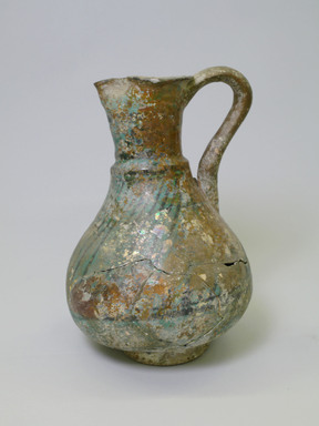 Mesopotamian. <em>Ewer</em>, 13th century. Ceramic, fritware, 10 1/4 x 7 3/8 in. (26 x 18.8 cm). Brooklyn Museum, Gift of Robert B. Woodward, 06.3. Creative Commons-BY (Photo: Brooklyn Museum, CUR.06.3.jpg)