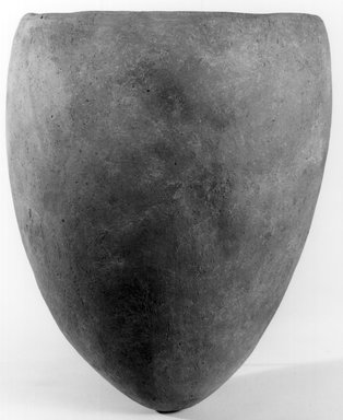 <em>Ovoid Jar</em>, ca. 3500-3300 B.C.E. Clay, 2 3/8 x Diam. 5 3/16 in. (6.1 x 13.1 cm). Brooklyn Museum, Charles Edwin Wilbour Fund, 07.447.1318. Creative Commons-BY (Photo: Brooklyn Museum, CUR.07.447.1318_NegA_print_bw.jpg)