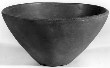 <em>Deep Conical Bowl</em>, ca. 3500-3300 B.C.E. Clay, 3 7/8 x Greatest diam. 7 5/16 in. (9.9 x 18.6 cm). Brooklyn Museum, Charles Edwin Wilbour Fund, 07.447.1325. Creative Commons-BY (Photo: Brooklyn Museum, CUR.07.447.1325_NegA_print_bw.jpg)