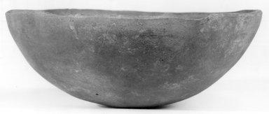 <em>Shallow Bowl</em>. Clay, 2 5/16 x Greatest Diam. 6 in. (5.8 x 15.3 cm). Brooklyn Museum, Charles Edwin Wilbour Fund, 07.447.1371. Creative Commons-BY (Photo: Brooklyn Museum, CUR.07.447.1371_NegA_print_bw.jpg)