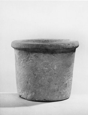 <em>Cylindrical Vase</em>, ca. 4400-3100 B.C.E. Limestone, 3 1/2 x Diam. 4 in. (8.9 x 10.2 cm). Brooklyn Museum, Charles Edwin Wilbour Fund, 07.447.148. Creative Commons-BY (Photo: Brooklyn Museum, CUR.07.447.148_negA_print.jpg)