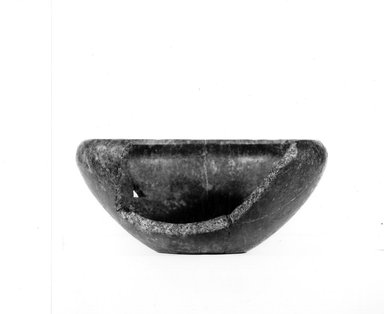 <em>Bowl with Separated Fragment</em>, ca. 3100-2675 B.C.E. Quartzite, 3 5/16 x Greatest diam. 7 3/8 in. (8.4 x 18.7 cm). Brooklyn Museum, Charles Edwin Wilbour Fund, 07.447.184. Creative Commons-BY (Photo: Brooklyn Museum, CUR.07.447.184_NegA_print_bw.jpg)