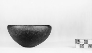 <em>Squat Bowl</em>, ca. 3100-2675 B.C.E. Egyptian alabaster (calcite), 2 1/16 x Diam. 6 in. (5.3 x 15.2 cm). Brooklyn Museum, Charles Edwin Wilbour Fund, 07.447.26. Creative Commons-BY (Photo: Brooklyn Museum, CUR.07.447.26_negA_print.jpg)