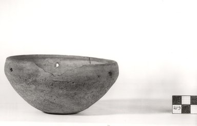 <em>Small Bowl</em>. Clay, 2 5/16 x Diam. 4 15/16 in. (5.9 x 12.6 cm). Brooklyn Museum, Charles Edwin Wilbour Fund, 07.447.325. Creative Commons-BY (Photo: Brooklyn Museum, CUR.07.447.325_NegA_print_bw.jpg)