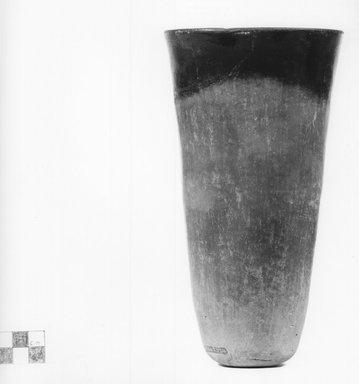 <em>Goblet-Shaped Vase</em>, ca. 3800-3500 B.C.E. or ca. 3500-3300 B.C.E. Clay, 8 3/16 x Diam. 4 3/8 in. (20.8 x 11.1 cm). Brooklyn Museum, Charles Edwin Wilbour Fund, 07.447.334. Creative Commons-BY (Photo: Brooklyn Museum, CUR.07.447.334_NegA_print_bw.jpg)