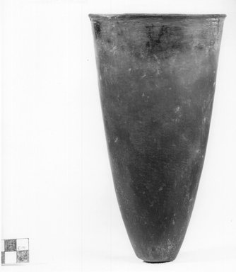 <em>Goblet-Shaped Vase</em>, ca. 3800-3500 B.C.E. or ca. 3500-3300 B.C.E. Clay, 7 15/16 x Diam. 4 7/16 in. (20.2 x 11.3 cm). Brooklyn Museum, Charles Edwin Wilbour Fund, 07.447.335. Creative Commons-BY (Photo: Brooklyn Museum, CUR.07.447.335_NegA_print_bw.jpg)