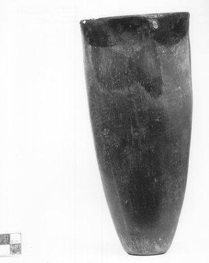 <em>Goblet-Shaped Vase</em>, ca. 3800-3500 B.C.E. or ca. 3500-3300 B.C.E. Clay, 8 9/16 x Diam. 4 in. (21.7 x 10.2 cm). Brooklyn Museum, Charles Edwin Wilbour Fund, 07.447.337. Creative Commons-BY (Photo: Brooklyn Museum, CUR.07.447.337_NegA_print_bw.jpg)