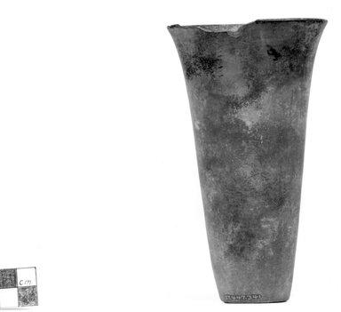<em>Goblet-Shaped Vase</em>, ca. 3800-3500 B.C.E. or ca. 3500-3300 B.C.E. Clay, 5 3/4 x Diam. 3 1/4 in. (14.6 x 8.3 cm). Brooklyn Museum, Charles Edwin Wilbour Fund, 07.447.341. Creative Commons-BY (Photo: Brooklyn Museum, CUR.07.447.341_NegA_print_bw.jpg)