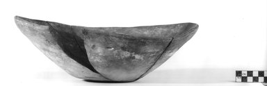 <em>Large Bowl</em>, ca. 3800-3500 B.C.E. Clay, 4 5/16 x Diam. 13 1/16 in. (11 x 33.1 cm). Brooklyn Museum, Charles Edwin Wilbour Fund, 07.447.356. Creative Commons-BY (Photo: Brooklyn Museum, CUR.07.447.356_NegB_print_bw.jpg)