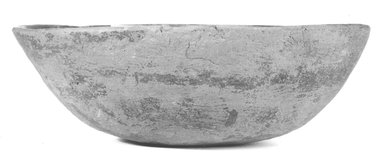 <em>Large Bowl</em>. Clay, 2 15/16 x 9 1/4 in. (7.5 x 23.5 cm). Brooklyn Museum, Charles Edwin Wilbour Fund, 07.447.359. Creative Commons-BY (Photo: Brooklyn Museum, CUR.07.447.359_NegA_print_bw.jpg)