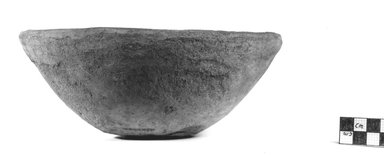<em>Bowl</em>, ca. 3800-3300 B.C.E. Clay, 3 1/4 x Diam. 7 15/16 in. (8.2 x 20.2 cm). Brooklyn Museum, Charles Edwin Wilbour Fund, 07.447.361. Creative Commons-BY (Photo: Brooklyn Museum, CUR.07.447.361_NegA_print_bw.jpg)