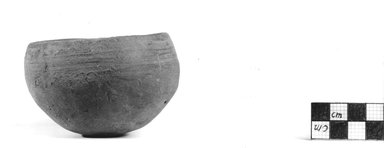<em>Deep Bowl</em>, ca. 3100-2675 B.C.E. Clay, 2 1/8 x Diam. 3 9/16 in. (5.4 x 9 cm). Brooklyn Museum, Charles Edwin Wilbour Fund, 07.447.370. Creative Commons-BY (Photo: Brooklyn Museum, CUR.07.447.370_NegA_print_bw.jpg)