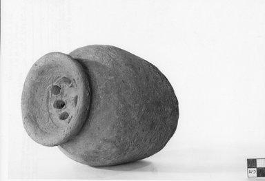 <em>Pear-Shaped Strainer</em>, ca. 3100-2800 B.C.E. Clay, 6 11/16 x Diam. 5 7/16 in. (17 x 13.8 cm). Brooklyn Museum, Charles Edwin Wilbour Fund, 07.447.390. Creative Commons-BY (Photo: Brooklyn Museum, CUR.07.447.390_negA_print.jpg)
