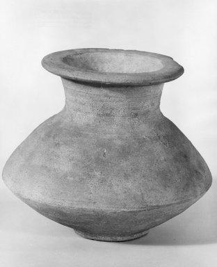 <em>Biconical Vase</em>, ca. 1539-1190 B.C.E. Clay, 4 3/4 x Diam. 5 1/2 in. (12 x 14 cm). Brooklyn Museum, Charles Edwin Wilbour Fund, 07.447.392. Creative Commons-BY (Photo: Brooklyn Museum, CUR.07.447.392_negA_print.jpg)