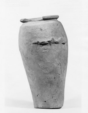 <em>Ovoid Vase with Handles</em>, ca. 3100-2675 B.C.E. Clay, 8 3/4 x Diam. 4 13/16 in. (22.2 x 12.2 cm). Brooklyn Museum, Charles Edwin Wilbour Fund, 07.447.394. Creative Commons-BY (Photo: Brooklyn Museum, CUR.07.447.394_negA_print.jpg)