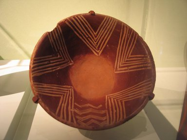 <em>Bowl</em>. Terracotta, pigment, 3 1/8 x Diam. 7 1/16 in. (8 x 18 cm). Brooklyn Museum, Charles Edwin Wilbour Fund, 07.447.403. Creative Commons-BY (Photo: Brooklyn Museum, CUR.07.447.403_erg456_2015.jpg)