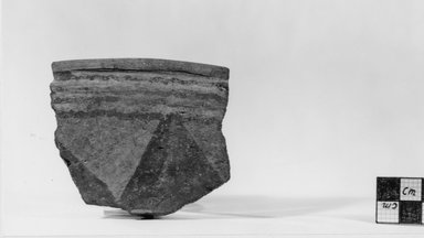 <em>Vase Fragment</em>, ca. 3500-3300 B.C.E. Clay, Greatest length: 3 11/16 in. (9.4 cm). Brooklyn Museum, Charles Edwin Wilbour Fund, 07.447.406. Creative Commons-BY (Photo: Brooklyn Museum, CUR.07.447.406_negA_print.jpg)