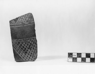 <em>Pottery Fragment</em>, ca. 3800-3500 B.C.E. Clay, 4 1/8 x 2 3/16 in. (10.5 x 5.6 cm). Brooklyn Museum, Charles Edwin Wilbour Fund, 07.447.407. Creative Commons-BY (Photo: Brooklyn Museum, CUR.07.447.407_negA_print.jpg)