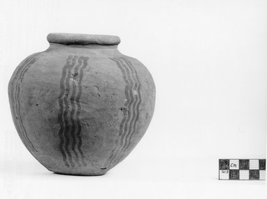 <em>Miniature Globular Vase</em>, ca. 3500-3300 B.C.E. Clay, pigment (?), 1 3/4 x diam. 2 1/2 in. (4.5 x 6.3 cm). Brooklyn Museum, Charles Edwin Wilbour Fund, 07.447.431. Creative Commons-BY (Photo: Brooklyn Museum, CUR.07.447.431_negA_print.jpg)