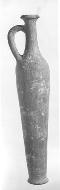 <em>Egyptian Imitation of Western Asiatic Oil Bottle</em>, ca. 1539-1390 B.C.E. Clay, 12 5/8 x Diam. of foot 2 7/16 in. (32 x 6.2 cm). Brooklyn Museum, Charles Edwin Wilbour Fund, 07.447.459. Creative Commons-BY (Photo: Brooklyn Museum, CUR.07.447.459_NegA_print_bw.jpg)