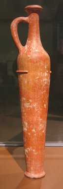 <em>Egyptian Imitation of Western Asiatic Oil Bottle</em>, ca. 1539-1390 B.C.E. Clay, 12 5/8 x Diam. of foot 2 7/16 in. (32 x 6.2 cm). Brooklyn Museum, Charles Edwin Wilbour Fund, 07.447.459. Creative Commons-BY (Photo: Brooklyn Museum, CUR.07.447.459_erg456.jpg)