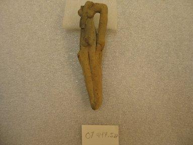 <em>Fragmentary Figurine of a Woman</em>, ca. 2008-1352 B.C.E. Clay, 4 3/16 × 1 7/16 × 1 in. (10.7 × 3.6 × 2.5 cm). Brooklyn Museum, Charles Edwin Wilbour Fund, 07.447.527. Creative Commons-BY (Photo: Brooklyn Museum, CUR.07.447.527.jpg)