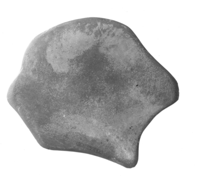 <em>Hedgehog-Shaped Palette</em>. Slate, 3 11/16 x 4 5/8 in. (9.4 x 11.8 cm). Brooklyn Museum, Charles Edwin Wilbour Fund, 07.447.612. Creative Commons-BY (Photo: , CUR.07.447.612_NegA_print_bw.jpg)