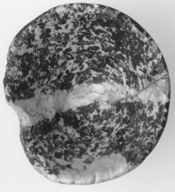 <em>Conical Cup</em>, ca. 4400-3100 B.C.E. Syenite or granite or breccia, 1 13/16 x Diam. 2 15/16 in. (4.6 x 7.5 cm). Brooklyn Museum, Charles Edwin Wilbour Fund, 07.447.878. Creative Commons-BY (Photo: , CUR.07.447.878_NegE_print_cropped_bw.jpg)